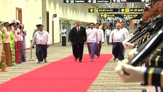 Nay Pyi Taw Myanmar  city images : Arrival at Nay Pyi Taw International Airport 11/11/2014