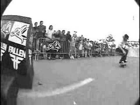 fallen skateboarding