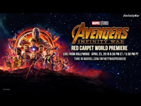 Marvel Studios' Avengers: Infinity War - Red Carpet World Premiere (видео)