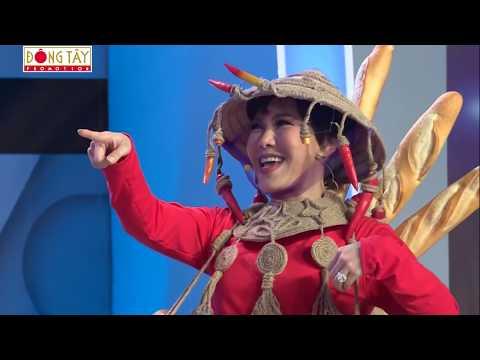 """H'Hen Niê lần đầu """"thị phạm"""" cú xoay váy thần thánh cho Việt Hương tại Người Bí Ẩn - Thời lượng: 3 phút và 2 giây."""