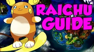ALOLAN RAICHU GUIDE! Pokemon Sun and Moon Alolan Raichu Moveset by Verlisify