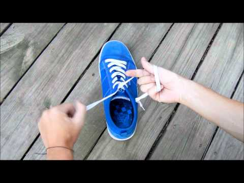 Shoes - Here is me showing you how to tie your shoes in a super fast way, and it's MUCH easier than the stupid bunny tree ears whatever method. Enjoy! My friend, MsV...