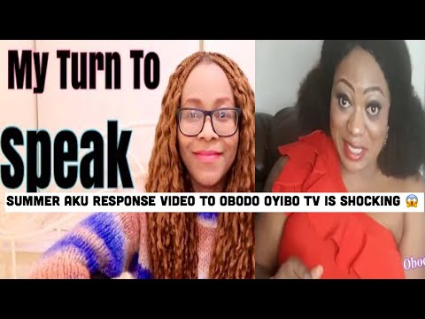 Summer Aku Vlogs Made A Respond Video To Obodo Oyibo Tv | Can't Believe She Said That😱