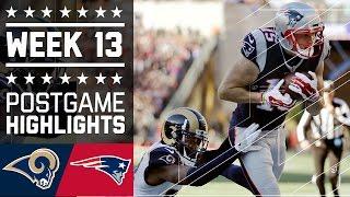 Rams vs. Patriots | NFL Week 13 Game Highlights