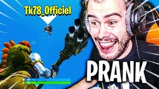 LE RETOUR DU PLUS GROS PRANK A THEKAIRI78 SUR FORTNITE BATTLE ROYALE !!!
