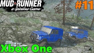 SpinTires Mud Runner: Xbox One Let's Play! Part 11 | Rocky Mountain UAZ Rescue!