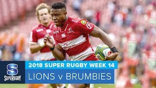 Lions v Brumbies Rd.14 2018 Super rugby video highlights  Super Rugby Video Highlights