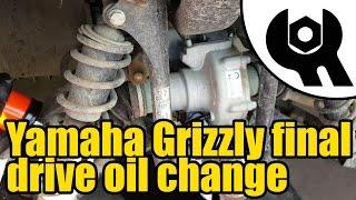 9. Yamaha Grizzly 450 - Tuff Torq final drive oil change #1809