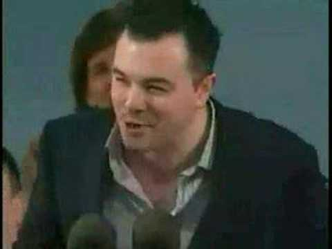 macfarlane - Seth MacFarlane (creator of Family Guy and American Dad!) gives his advice to Harvard graduates as himself, Peter Griffin, Stewie Griffin, and Glenn Quagmire...