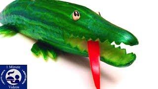 Comment faire un crocodile en concombre