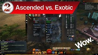 GSmaniamsmart talks about ascended vs exotic gear in Guild Wars 2. Do you need ascended gear? Is it worth getting? Find out.►Subscribe for more awesome gaming videos: http://goo.gl/KvoSKmDo you have your ascended gear yet? If not, maybe you don't even need it. In today's video, we're going to take a look at ascended gear vs exotic gear in Guild Wars 2. While ascended trinkets are definitely worth the investment, ascended gear is questionable. What's the difference between ascended gear and exotic gear in Guild Wars 2? Find out in today's Guild Wars 2 video explaining whether ascended gear is worth it, and whether you need ascended gear. Be sure to check out the related videos down below, and feel free to leave any questions, comments, or discussion posts down below in the comments!Support me and my channels through Patreon below:https://goo.gl/pPKNGBCheck out the full PVE power Elementalist build video below:https://goo.gl/tnPWxOCheck out the food and utility video below:https://goo.gl/DDy4CpCheck out the ascended trinkets guide video below:https://goo.gl/5LUjI2Check out my other channels below:GSmaniamsmart: https://goo.gl/blsw51Advice with GS: https://goo.gl/C5X1uXMusic with GS: https://goo.gl/F2amr0Tutorials with GS: https://goo.gl/3Y3CuoFollow me on social media below:Patreon: https://goo.gl/pPKNGBFacebook: https://goo.gl/VtRnweGoogle Plus: https://goo.gl/k8AJX6Twitter: https://goo.gl/RejPxv