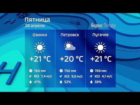 Прогноз погоды на 28.04.2017
