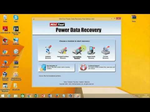 Como Recuperar dados Com Mini Tool Power Data Recovery (2016)