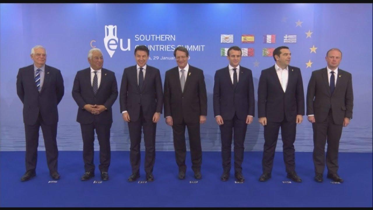 5η Συνόδου Κορυφής Νοτίων Χωρών της Ε.Ε. οικογενειακή φωτογραφία.