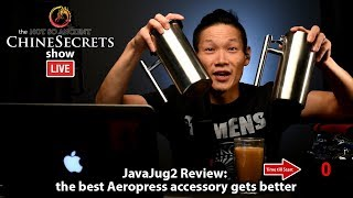 Aeropress Lovers Rejoice! Here's something as clever as the Aeropress that improves your coffee brewing experience.  Links, notes and updates: http://wp.me/p7aeg3-NlBest Ramen Shirt: http://bit.ly/csramenshirt+ Subscribe to the Show: http://bit.ly/chineSecrets+ Learn to Livestream: http://bit.ly/lgresMore chineSecrets: http://chineSecrets.comLearn to Livestream: http://livestreamgeek.com--- HOW TO SUPPORT THE SHOW ---Thanks for watching!   If you like what you've seen and would like to help us create more videos like this, we'd love for you to start your online shopping off with the links below. As affiliates we get a small percentage of qualifying purchases but rest assured you won't pay a cent more than buying it elsewhere on the world-wide-web. Every purchase helps no matter how big or small, so THANK YOU for starting your shopping off with our links! Amazon.com - http://amzn.to/2nYarYCAmazon.ca - http://amzn.to/2nMREPuAmazon.co.uk - http://amzn.to/2oMaILoB&H Photo - https://bhpho.to/2ooyxNfAdorama - http://bit.ly/1EGcfqWEbay - http://ebay.to/2oMgMDLIf you love what you've seen and want to contribute towards the show on a monthly basis, please consider becoming a Patron here:  https://www.patreon.com/chineSecretsFor more laughs, learning and love visit our home on the web at http://notsoancientchinesecrets.comFor more Behind the Scenes and to start a conversation:Facebook: http://facebook.com/chineSecretsInstagram: http://instagram.com/chinesecretsTwitter: http://twitter.com/chinesecretsGod bless, and see you in the next video :)Multistreaming with https://restream.io/