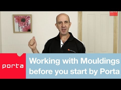 Working with Mouldings before You Start by Porta / What mouldings go where