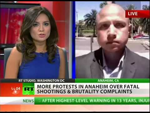 Anaheim protesters demand investigation of police brutality