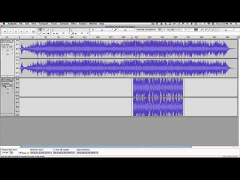 Audacity tutorial--combining 2 songs into one