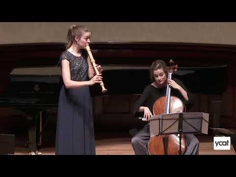 See video  J S Bach, Flute Sonata in E BWV 1035 ii Allegro