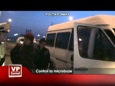 Control la microbuze