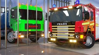 Video Water Tank in Cage by Fire Truck Frank and Sergeant Lucas the Police Car - Wheel City Heroes Cartoon MP3, 3GP, MP4, WEBM, AVI, FLV Januari 2019