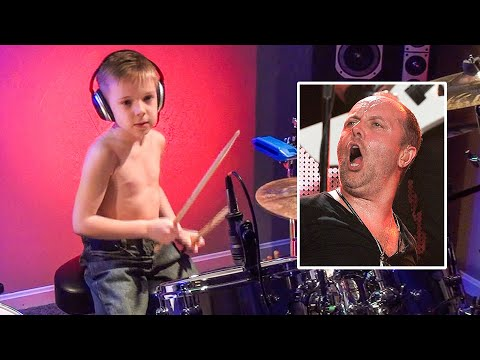 Master - Avery Molek (6 year old drummer) drumming to