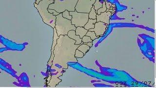 Chuva aumenta no leste do Sudeste e do Nordeste