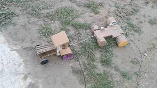 Mini tractor tochan how to make a mini Toy tractor at home very easy