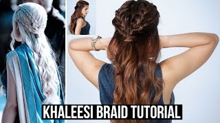 Game Of Thrones Season 6 Inspired Plaited Hairstyle Tutorial  Daenerys Targaryen, Mother of Dragons Give this video a thumbs up, Comment below and let me kn...