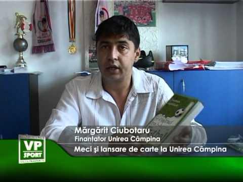 Meci şi lansare de carte la Unirea Câmpina