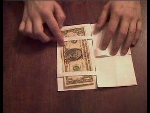 Как сделать бумажник видео