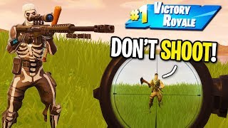 Download Video TAKING WINS FROM NOOBS WITH THE NEW HEAVY SNIPER IN FORTNITE! (The Default Skin Destroyer) MP3 3GP MP4