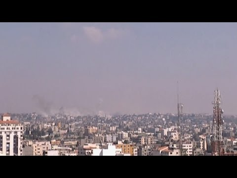 latest - http://www.democracynow.org - In breaking news from the Gaza Strip, at least five people were killed today and dozens wounded when the Israeli military shelled the al-Aqsa Hospital. It is at...
