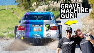 Video Ken Block Takes Mad Mike For a Ride in the Cossie V2! Rally Test Special MP3, 3GP, MP4, WEBM, AVI, FLV Agustus 2019
