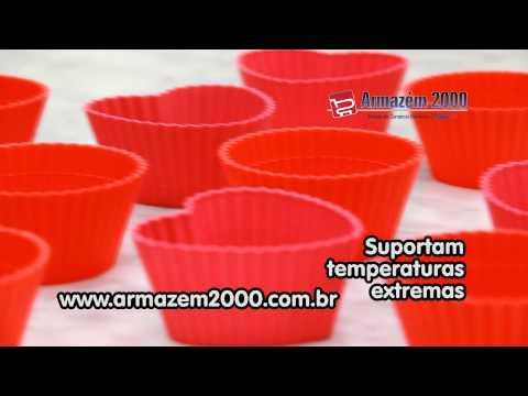 6 Formas de Silicone para Cupcake - Coração