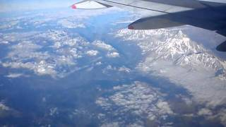 Flying over Swiss Alps