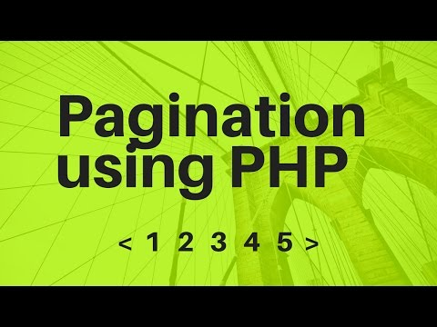 Video Create Pagination in PHP and MySQL download in MP3, 3GP, MP4, WEBM, AVI, FLV January 2017