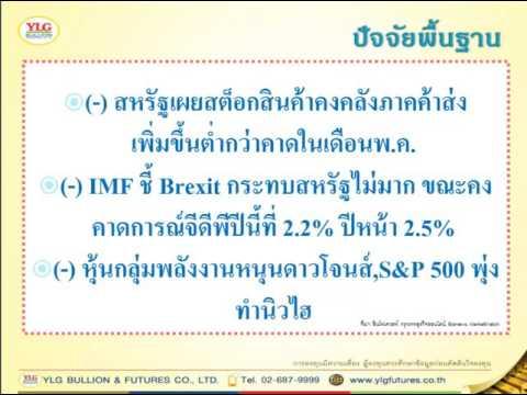 YLG บทวิเคราะห์ราคาทองคำประจำวัน 13-07-16