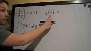 Initial Value Problem Example 1