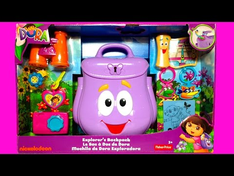 Dora's Backpack Dora The Explorer Backpack Mochila de Dora La Exploradora Fisher-Price Toys