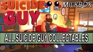 This is a guide to find all the collectables in the game Suicide guy. The suicide guy statues are found through the game. There is one collectable or trophy, in each level in the game bar from the final level. Want 12 Months of PlayStation Plus with Amazon? http://amzn.to/2nE0LDb (Affiliate Link) (U.S.)http://amzn.to/2nXmamY (Affiliate Link) (U.K.)------------------------------------------------------------------------------------------Are you a YouTube content creator? Click the link to apply for a Curse Partnership: ► https://www.unionforgamers.com/apply?referral=4hw6r7lzcccabp (Affiliate Link)------------------------------------------------------------------------------------------Subscribe to the milkiest channel on the Internet! 。◕ ‿ ◕。►https://www.youtube.com/channel/UCPH28MUR1-Ko5tRQuJf3zmw------------------------------------------------------------------------------------------Social Media!►https://twitter.com/The_Milkbox (Twitter)►http://supermilkbox.tumblr.com/ (Tumblr)►https://www.facebook.com/Super-Milkbox-1380643578903590/?ref=hl (Facebook)------------------------------------------------------------------------------------------Any comments? Just drop them! I reply pretty quick. ------------------------------------------------------------------------------------------Credits:Music that may have been used in this production is provided by Kevin Macleod of incompetech.com