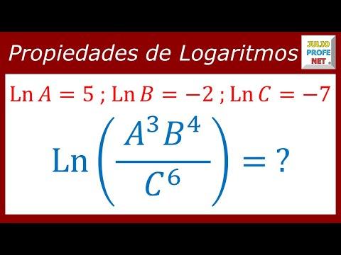 Ejercicio con propiedades de logaritmos