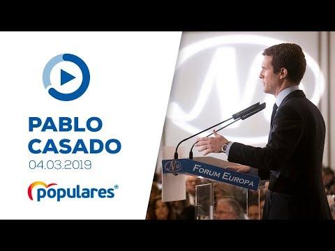 """Casado: """"El PP se compromete a promover un Pacto de Estado para acabar con la brecha salarial"""""""