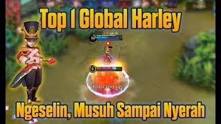 Video HEBAT !!! Top 1 Global Harley Bikin Musuh Menyerah + Gameplay Pro Player Harley Mobile Legends MP3, 3GP, MP4, WEBM, AVI, FLV Oktober 2018