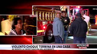 Auto impacta casa en Hawthorne-Noticias62 - Thumbnail