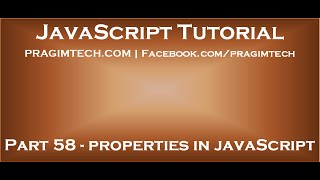 Properties in JavaScript