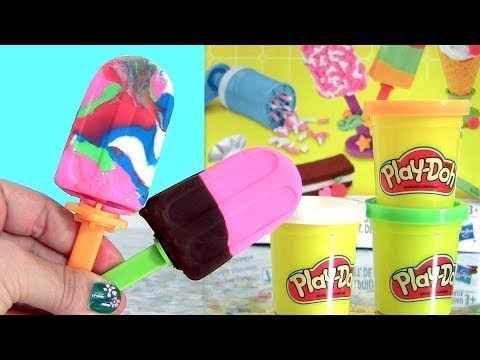Making Ice Cream Coloring Play Doh Learn Colours Live Mickey Mouse Barbie LOL Sisters