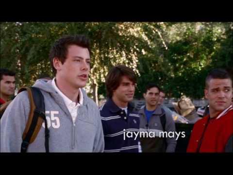 Glee - Puck tosses Kurt in the dumpster 1x01 (видео)