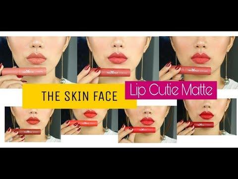 Son THE SKIN FACE Lip Cutie Matte! Duy lại swatch son!