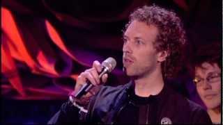 Coldplay win British Single Award presented by Morten Harket   BRITs 2006